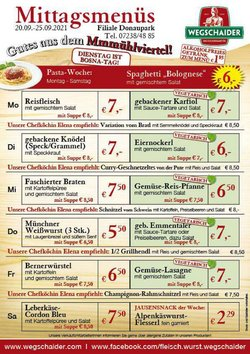 Angebote von Wegschaider im Wegschaider Prospekt ( 3 Tage übrig)