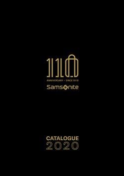 Samsonite Katalog ( Abgelaufen )