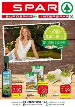 Angebote von Supermärkte im Spar Prospekt ( 19 Tage übrig )