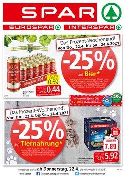Angebote von Supermärkte im Spar Prospekt ( Neu )