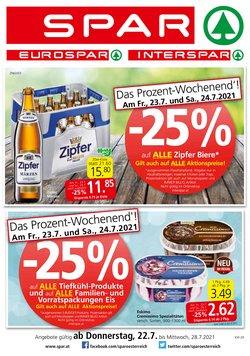 Angebote von Supermärkte im Spar Prospekt ( Läuft heute ab)