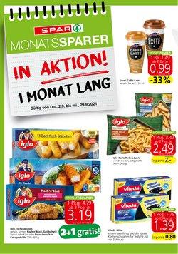 Angebote von Supermärkte im Spar Prospekt ( 6 Tage übrig)