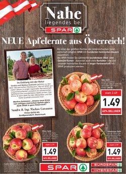Angebote von Supermärkte im Spar Prospekt ( Gestern veröffentlicht)