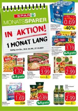 Angebote von Supermärkte im Spar Prospekt ( Läuft morgen ab)