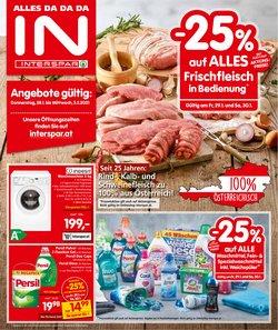 Angebote von Supermärkte im Interspar Prospekt ( Gestern veröffentlicht )