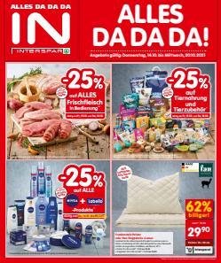 Angebote von Supermärkte im Interspar Prospekt ( Gestern veröffentlicht)