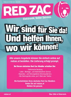 Red Zac Katalog in Wien ( Läuft morgen ab )