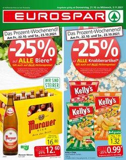 Angebote von Supermärkte im Eurospar Prospekt ( Gestern veröffentlicht)
