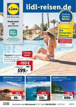 Angebote von Reisen im Lidl Reisen Prospekt ( Läuft morgen ab)