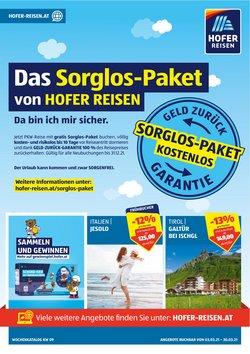 Angebote von Reisen im Hofer Reisen Prospekt in Ried im Innkreis ( Vor 2 Tagen )