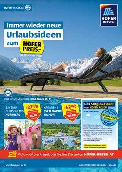 Angebote von Reisen im Hofer Reisen Prospekt in Wien ( 4 Tage übrig )