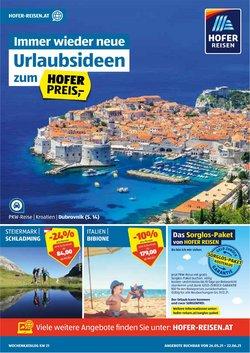 Angebote von Reisen im Hofer Reisen Prospekt ( Läuft morgen ab)