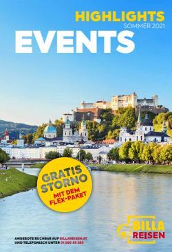 Angebote von Reisen im Billa Reisen Prospekt ( Gestern veröffentlicht)