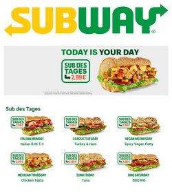 Angebote von Subway im Subway Prospekt ( Läuft morgen ab)