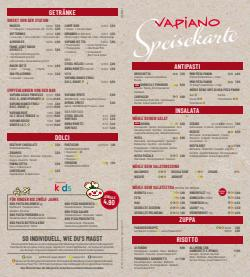 Angebote von Restaurants im Vapiano Prospekt ( Läuft morgen ab)