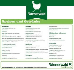 Wienerwald Katalog ( Läuft heute ab )