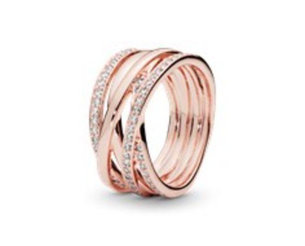 Funkelnde und Polierte Linien Ring für 149€