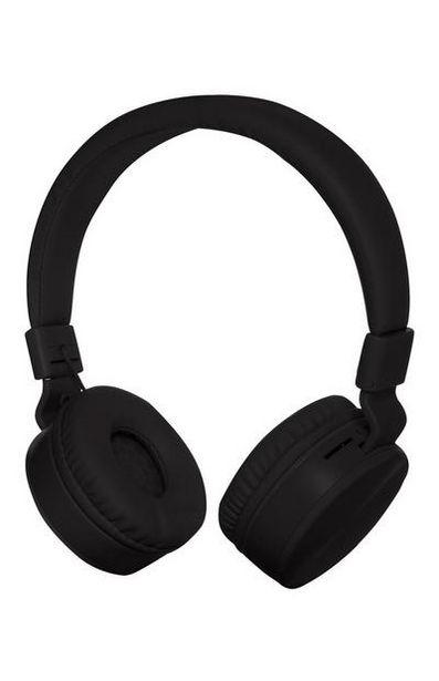 Kabellose, aufladbare Kopfhörer in Schwarz für 20€