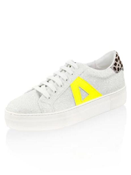 Sneaker mit Mini-Pailletten allover für 79€