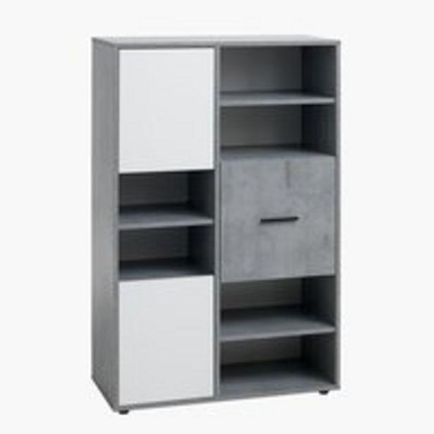 Bücherregal BILLUND 3 Türen weiß/beton für 149€