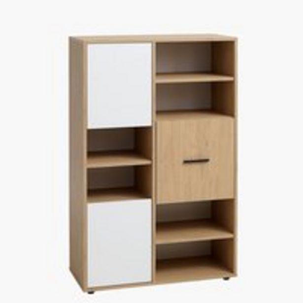 Bücherregal BILLUND 3 Türen weiß/eiche für 149€