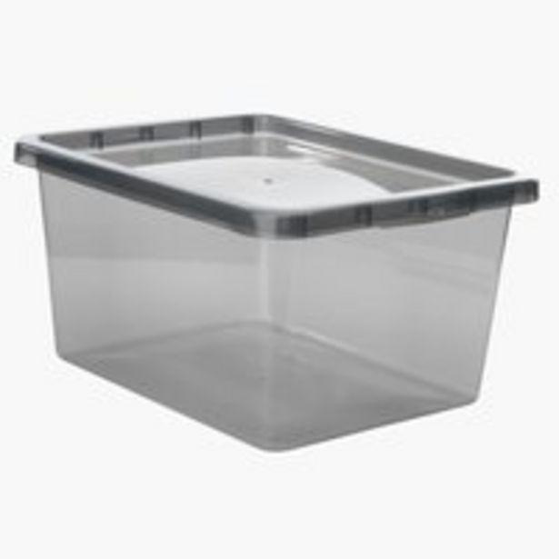 Aufbewahrungsbox BASIC BOX 20L m/Deckel für 4,5€
