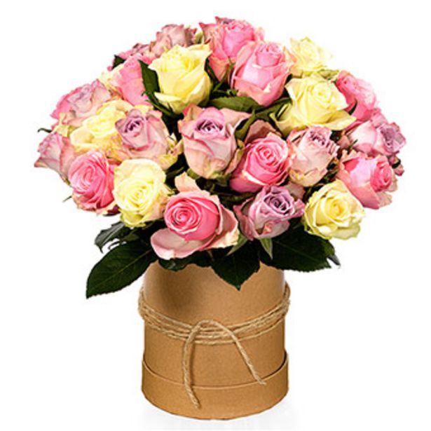 Süße Rosen in Hutbox für 42,99€