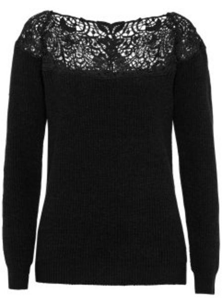 Pullover mit Spitze für 27,99€