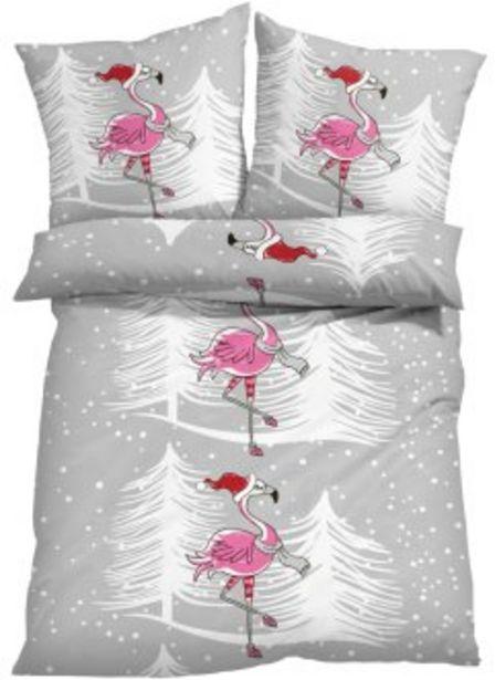 Bettwäsche mit winterlichem Flamingo für 15,99€