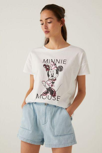 Organic cotton Minnie Mouse sequins T-shirt für 11,99€