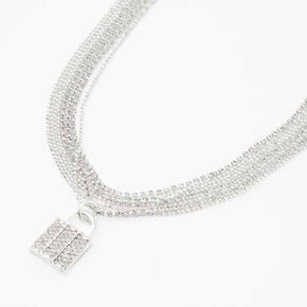 Silver Embellished Padlock Multi Strand Pendant Necklace für 8,4€