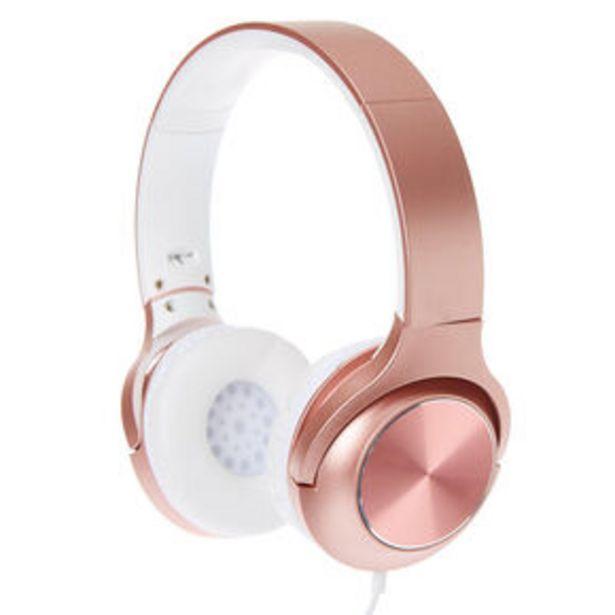 Metallic Headphones - Rose Gold für 15€