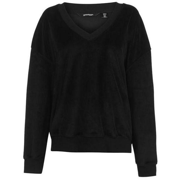 Golddigga Damen Velour Sweater für 12€