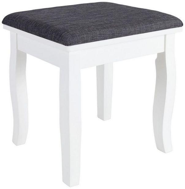 Hocker Mona B: 40 cm Weiß für 14,99€