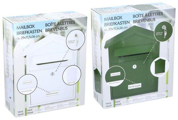 Briefkasten Weiss/Grün für 16,95€