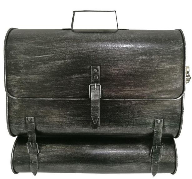 Briefkasten Schultasche B: 36 cm Grau für 25€