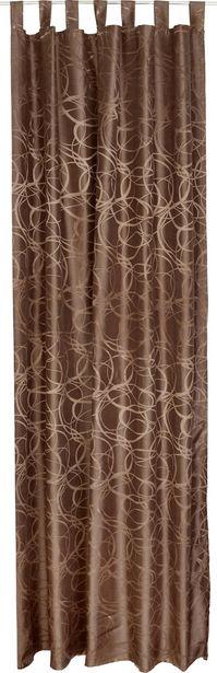 Vorhang mit Schlaufen und Band Linda B: 140 cm, Braun für 15,99€