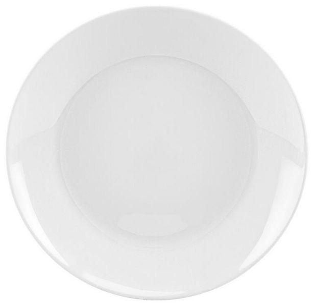 Speiseteller aus Glas Weiß Olivia ca. 25cm für 1€