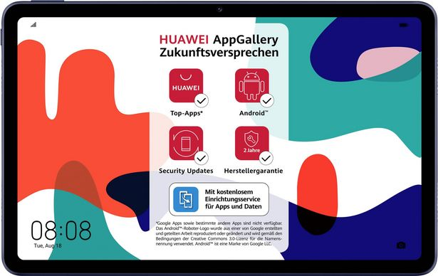 HUAWEI MatePad WiFi WiFi 32 GB Midnight Grey Android-Tablet 26.4 cm (10.4 Zoll) 2.27 GHz, 1.88 GHz  Android™ 10 2000 x 1200 Pixel für 319€