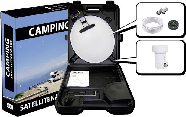 Opticum Red 001435861 Camping SAT-Anlage mit Receiver Teilnehmer-Anzahl: 1 für 79,99€