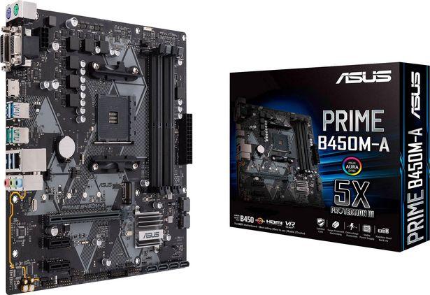 Asus Prime B450M-A Mainboard Sockel (PC) AMD AM4 Formfaktor (Details) Micro-ATX Mainboard-Chipsatz AMD® B450 für 89,99€