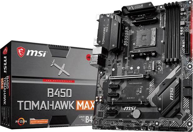 MSI Gaming B450 Tomahawk Max Mainboard Sockel (PC) AMD AM4 Formfaktor (Details) ATX Mainboard-Chipsatz AMD® B450 für 134,99€