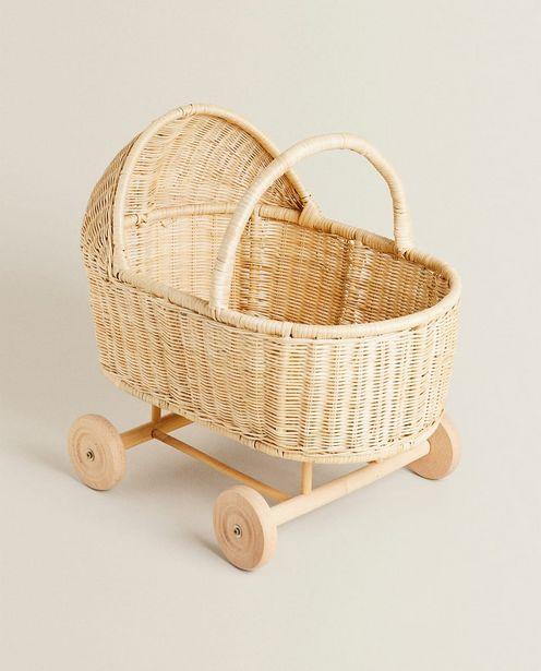 Spielzeug-Kinderwagen Aus Rattan für 79,99€